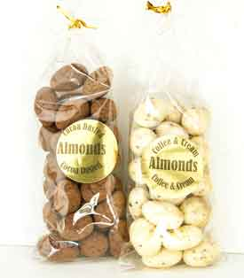 Cocoa Dusted or Coffee Cream Almonds